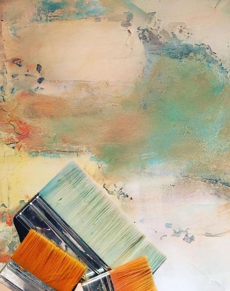 pinceaux 2019 atelier MJG artiste peintre